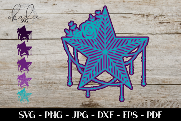 Download Free 3d Mandala Mandala Star Boho Graphic By Okadee Svg Creative for Cricut Explore, Silhouette and other cutting machines.