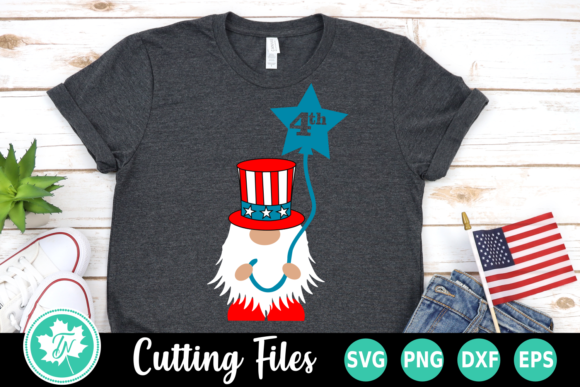 4th Of July Gnome Americana Graphic By Truenorthimagesca