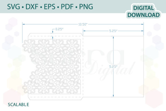Download Free Floral Invitation Card Graphic By Serradigital Creative Fabrica for Cricut Explore, Silhouette and other cutting machines.