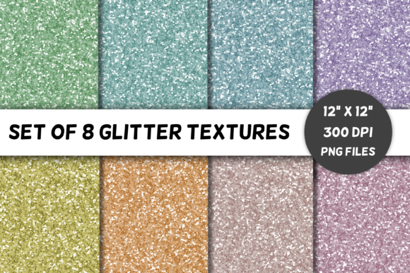 Download Free 8 Glitter Textures Volume 2 Pastels Graphic By for Cricut Explore, Silhouette and other cutting machines.