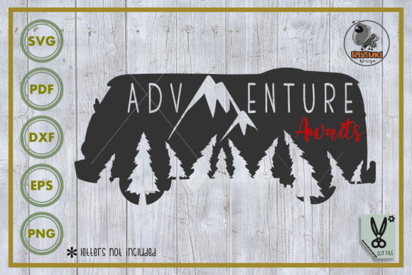 Download Free Adventure Adventure Awaits Graphic By Rizuki Store Creative for Cricut Explore, Silhouette and other cutting machines.