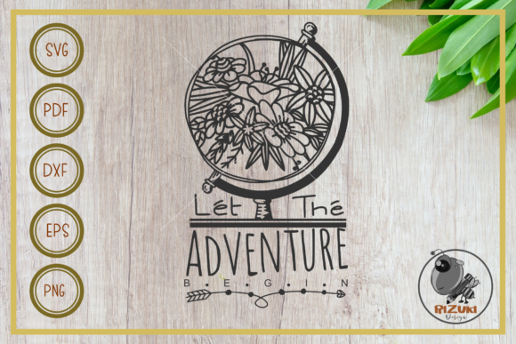Download Free Adventure Adventure Begin Globe Graphic By Rizuki Store for Cricut Explore, Silhouette and other cutting machines.