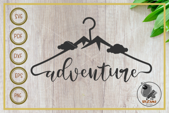 Download Free Adventure Adventure With Hanger Graphic By Rizuki Store for Cricut Explore, Silhouette and other cutting machines.