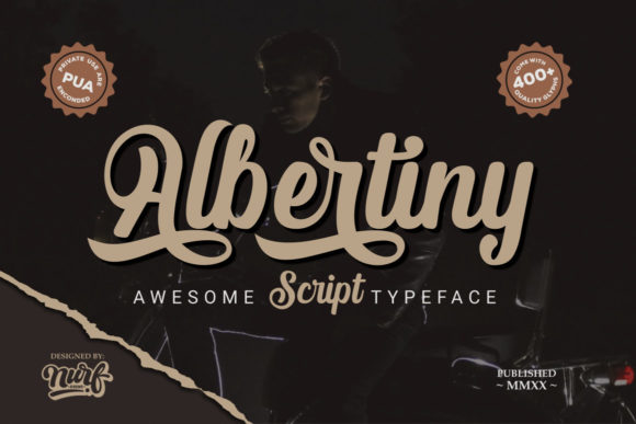 Print on Demand: Albertiny Script & Handwritten Font By nurfdesigns