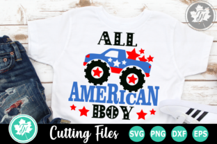 Download Free All American Boy An Americana Graphic By Truenorthimagesca for Cricut Explore, Silhouette and other cutting machines.