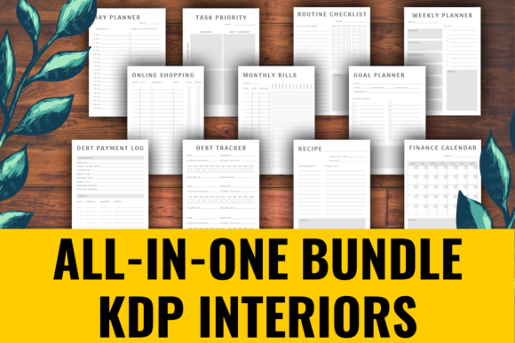 Print on Demand: All-in-One KDP Interiors Bundle  By atlasart