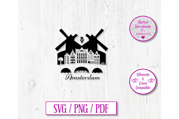 Amsterdam City Decal Graphic 3D SVG By Jumbleink Digital Downloads