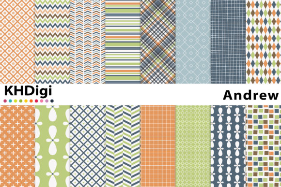 Print on Demand: Andrew Digital Paper Graphic Backgrounds By KHDigi