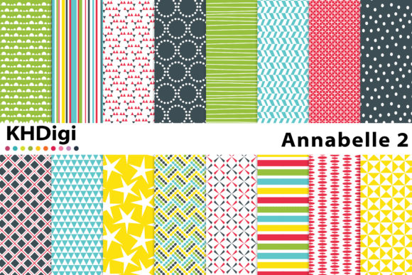 Print on Demand: Annabelle 2 - Bright Digital Paper Graphic Backgrounds By KHDigi