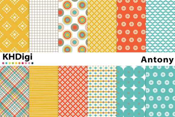 Print on Demand: Antony - Digital Paper Graphic Backgrounds By KHDigi