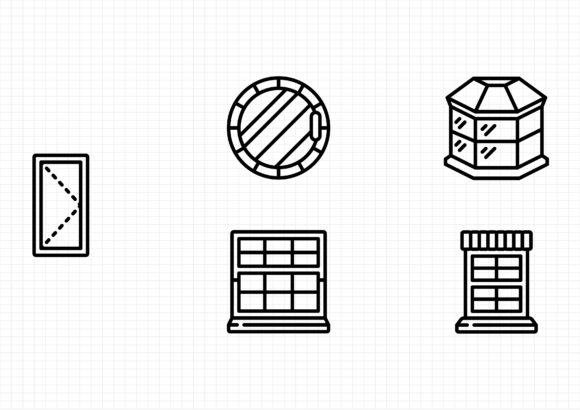 Download Free Architectural Windows Graphic By Beryladamayu Creative Fabrica for Cricut Explore, Silhouette and other cutting machines.