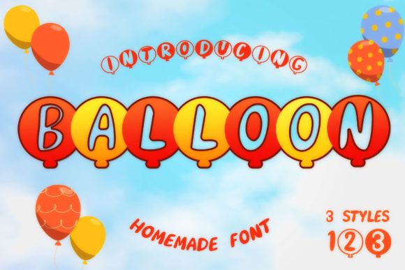 Print on Demand: Balloon Display Schriftarten von numnim