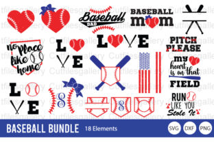 Download Free Baseball Bundle Softball Bundle Graphic By Cutfilesgallery Creative Fabrica for Cricut Explore, Silhouette and other cutting machines.