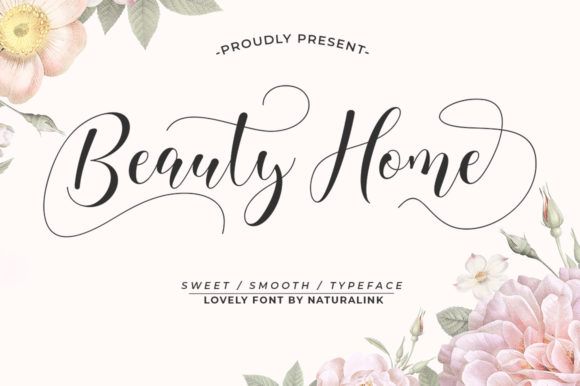 Download Free Beauty Home Font By Natural Ink Creative Fabrica for Cricut Explore, Silhouette and other cutting machines.