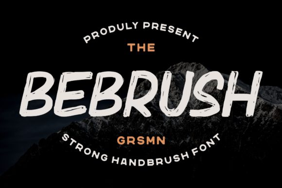 Print on Demand: Bebrush Display Font By Garisman Studio