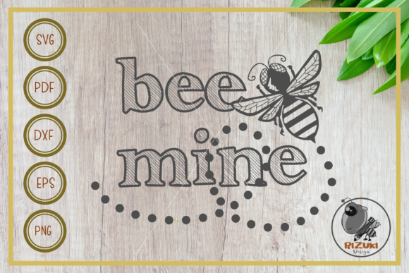 Download Free Bee Bee Mine Silhouette Cut File Graphic By Rizuki Store for Cricut Explore, Silhouette and other cutting machines.