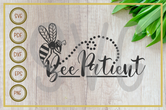 Download Bee, Bee Patient Silhouette Cut File