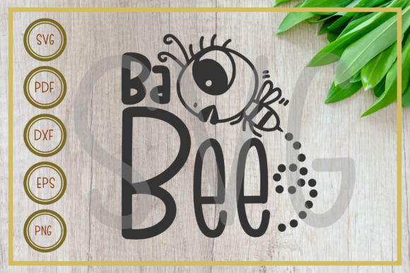 Download Free Bee Cute Baby Bee Silhouette Graphic By Rizuki Store Creative for Cricut Explore, Silhouette and other cutting machines.