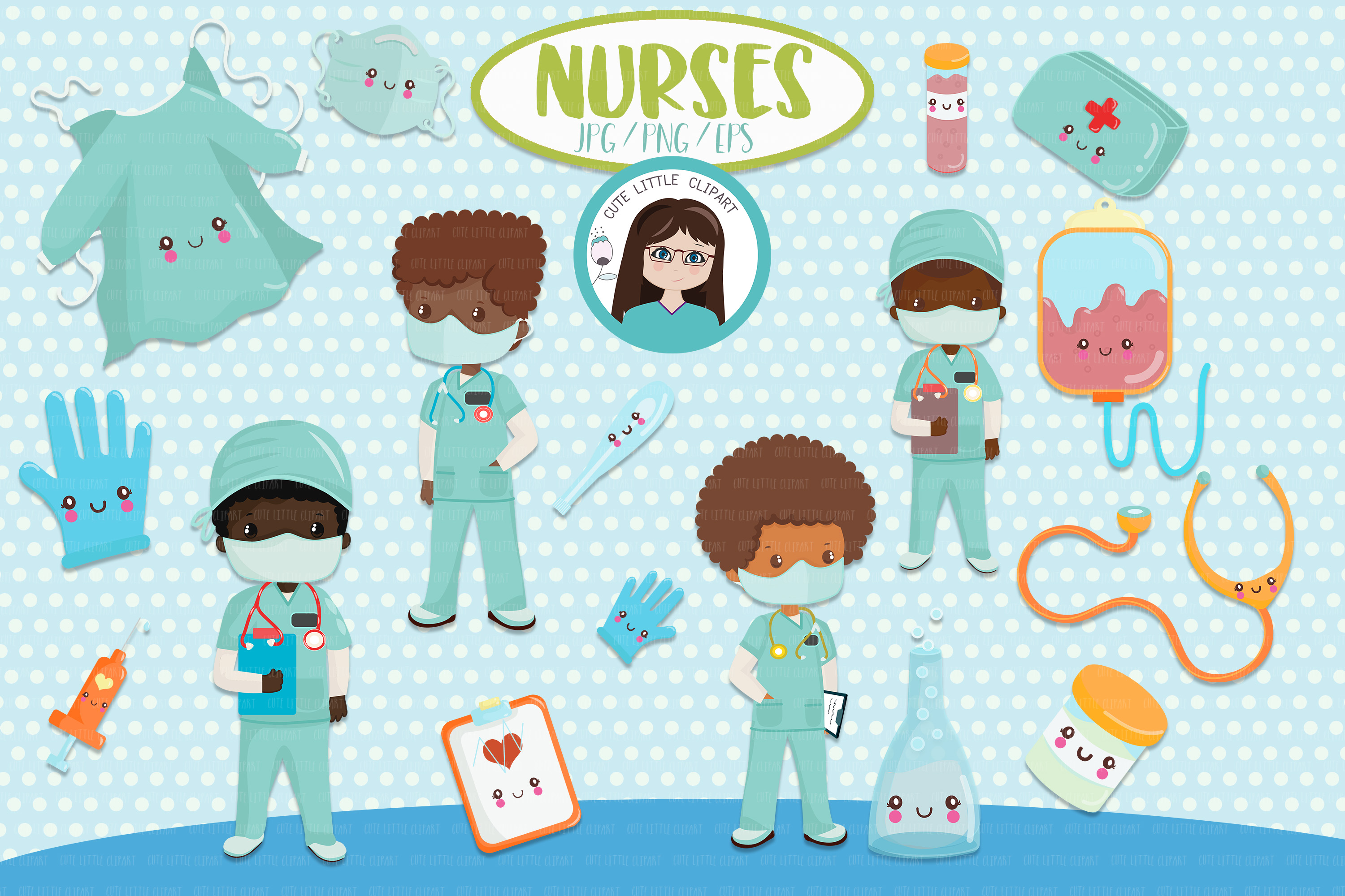 Download Free Black Nurses Boys Clipart Graphic By Cutelittleclipart for Cricut Explore, Silhouette and other cutting machines.