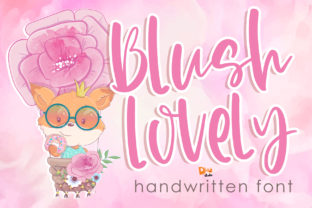 Print on Demand: Blush Lovely Manuscrita Fuente Por dmletter31