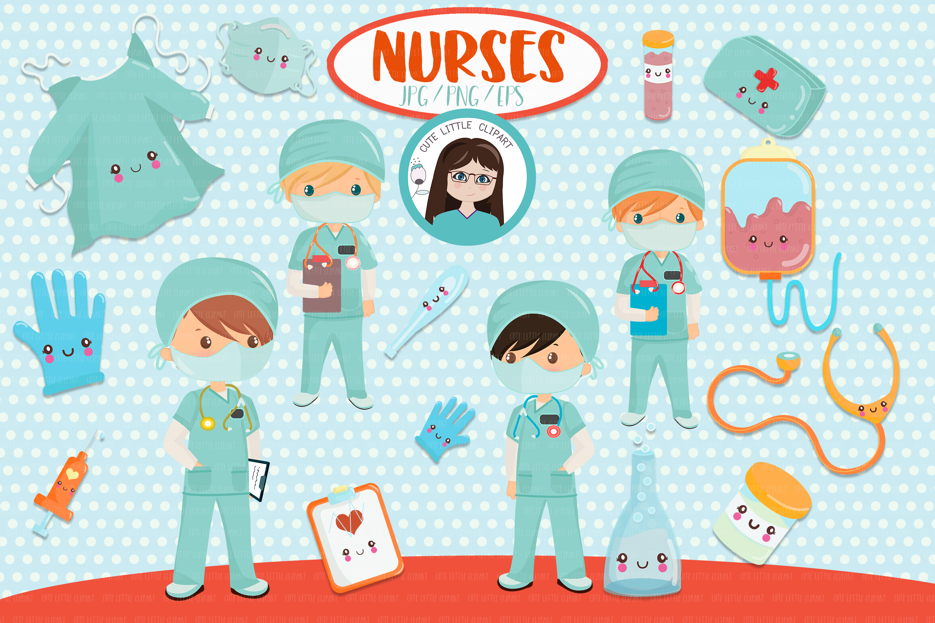 Download Free Boy Nurses Clipart Graphic By Cutelittleclipart Creative Fabrica for Cricut Explore, Silhouette and other cutting machines.
