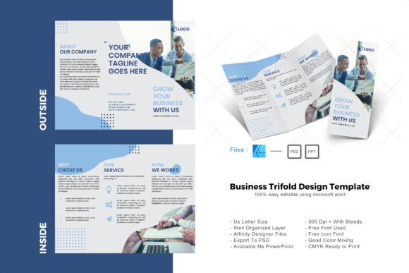 Download Free Business Trifold Brochure Design Templat Graphic By Rivatxfz for Cricut Explore, Silhouette and other cutting machines.