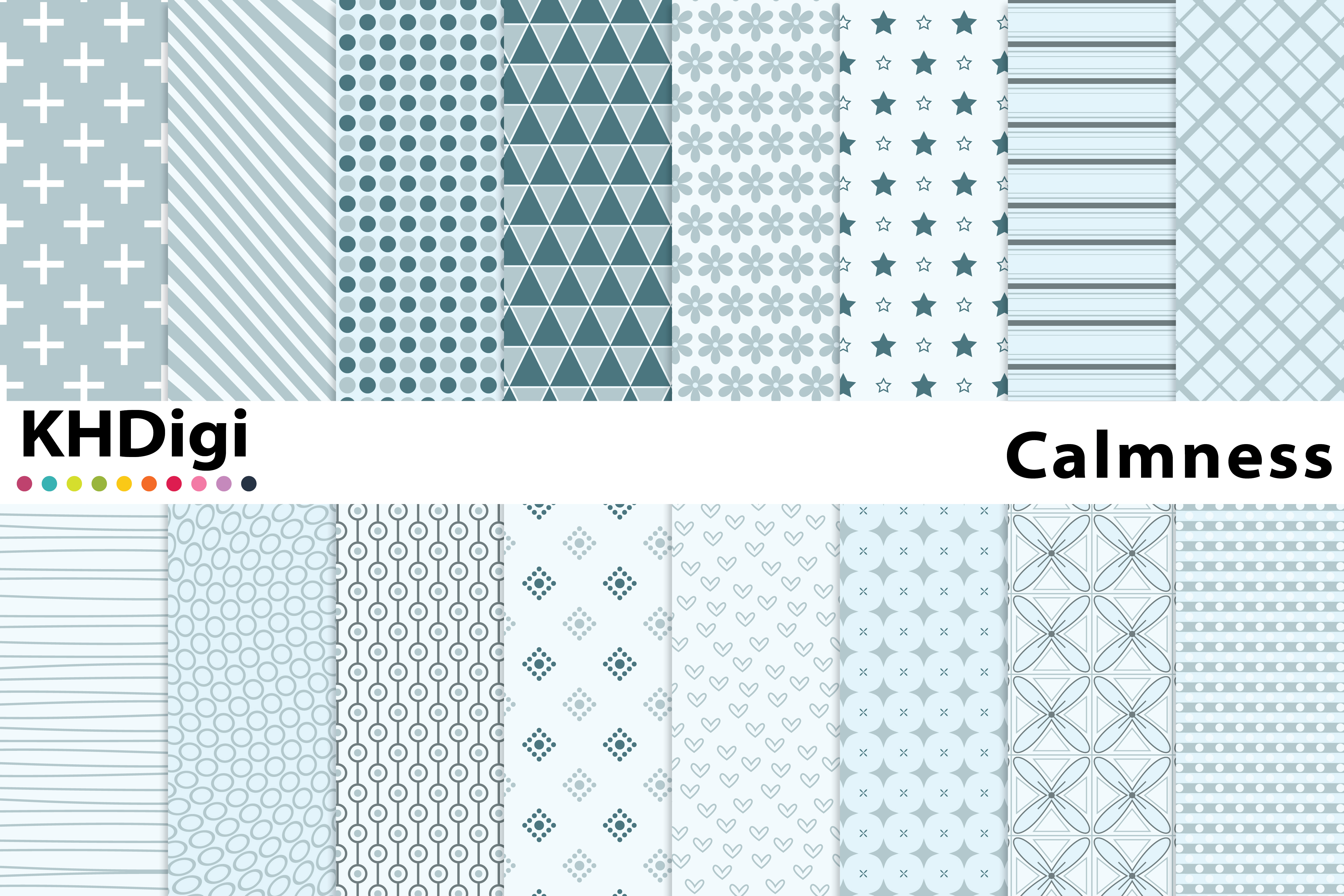 Download Free Calmness Digital Paper Graphic By Khdigi Creative Fabrica for Cricut Explore, Silhouette and other cutting machines.