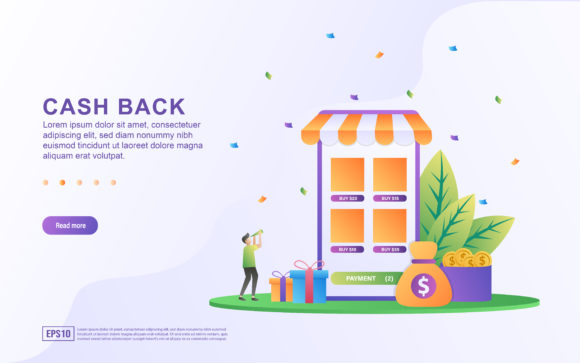 Download Free Cash Back Concept Design Graphic By Efosstudio Creative Fabrica for Cricut Explore, Silhouette and other cutting machines.