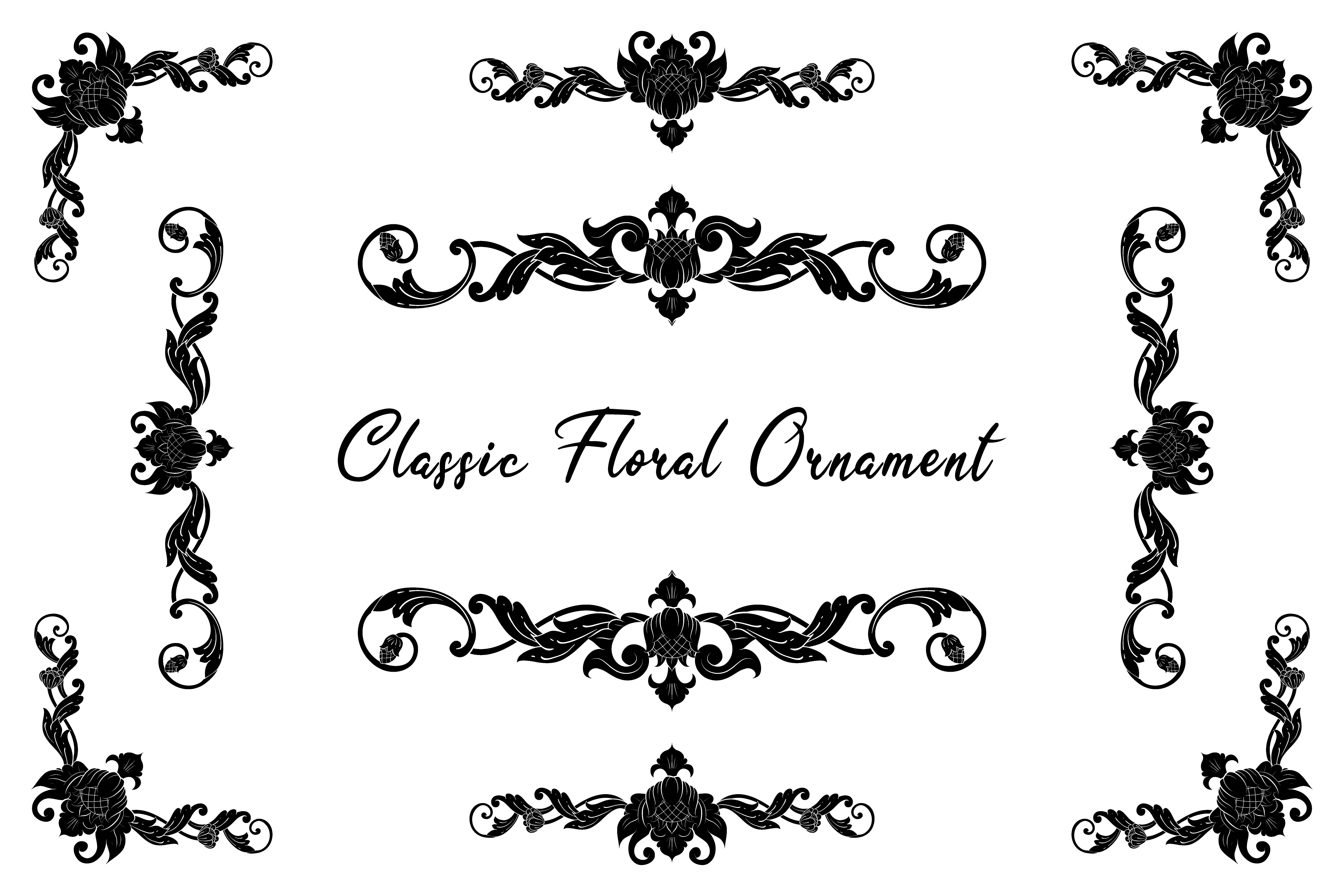 Download Free Classic Vintage Wedding Vector Ornament Graphic By Anomali Bisu for Cricut Explore, Silhouette and other cutting machines.