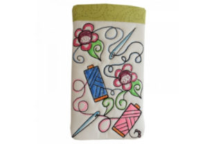 Coloring Book Eye Glass Case in the Hoop - Thread Accessories Embroidery Design By Sookie Sews