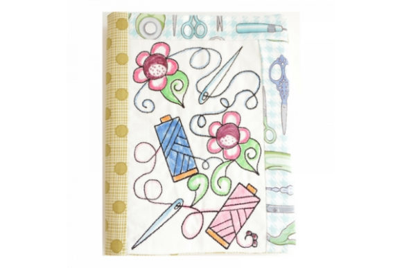 Coloring Book Notebook Cover in the Hoop - Thread Embroidery