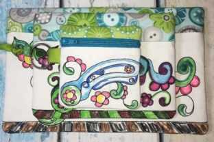Coloring Book Zipper Bag in the Hoop - Rotary Cutter Accessories Embroidery Design By Sookie Sews