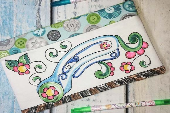 Coloring Book Zipper Bag in the Hoop - Rotary Cutter Embroidery Download