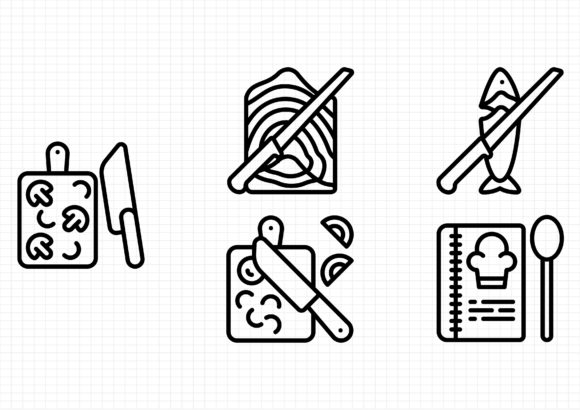 Cooking Graphic Icons By beryladamayu