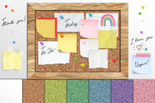 Print on Demand: Cork Board Notes Graphic Objects By Digital Curio