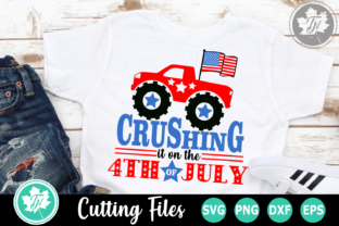 Download Free Crushing It On The 4th Of July Graphic By Truenorthimagesca SVG Cut Files