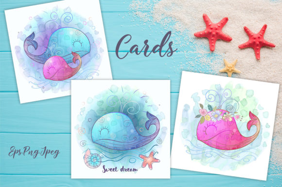Download Free Cute Whales Graphic By Grigaola Creative Fabrica for Cricut Explore, Silhouette and other cutting machines.
