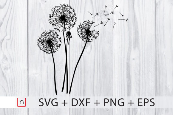 Download Free Dandelions Graphic By Novalia Creative Fabrica for Cricut Explore, Silhouette and other cutting machines.