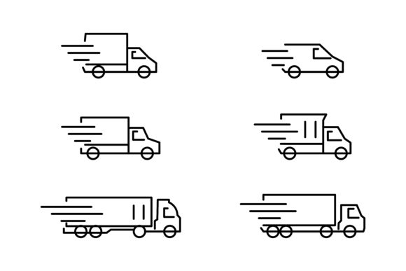 Download Free Delivery Car Icon Graphic By Msholicha9 Creative Fabrica for Cricut Explore, Silhouette and other cutting machines.