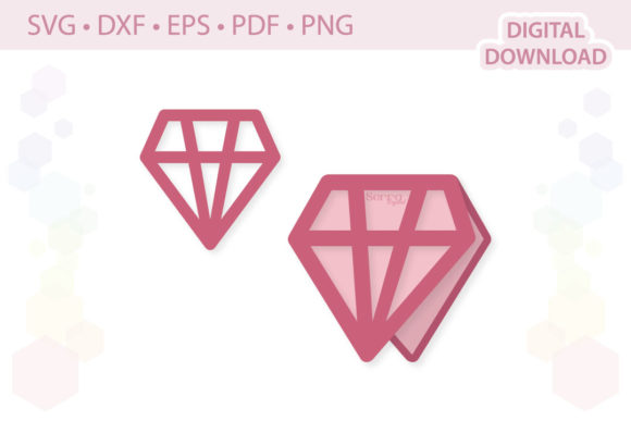Download Free Diamond Card Wedding Invitation Cut Fil Graphic By Serradigital for Cricut Explore, Silhouette and other cutting machines.