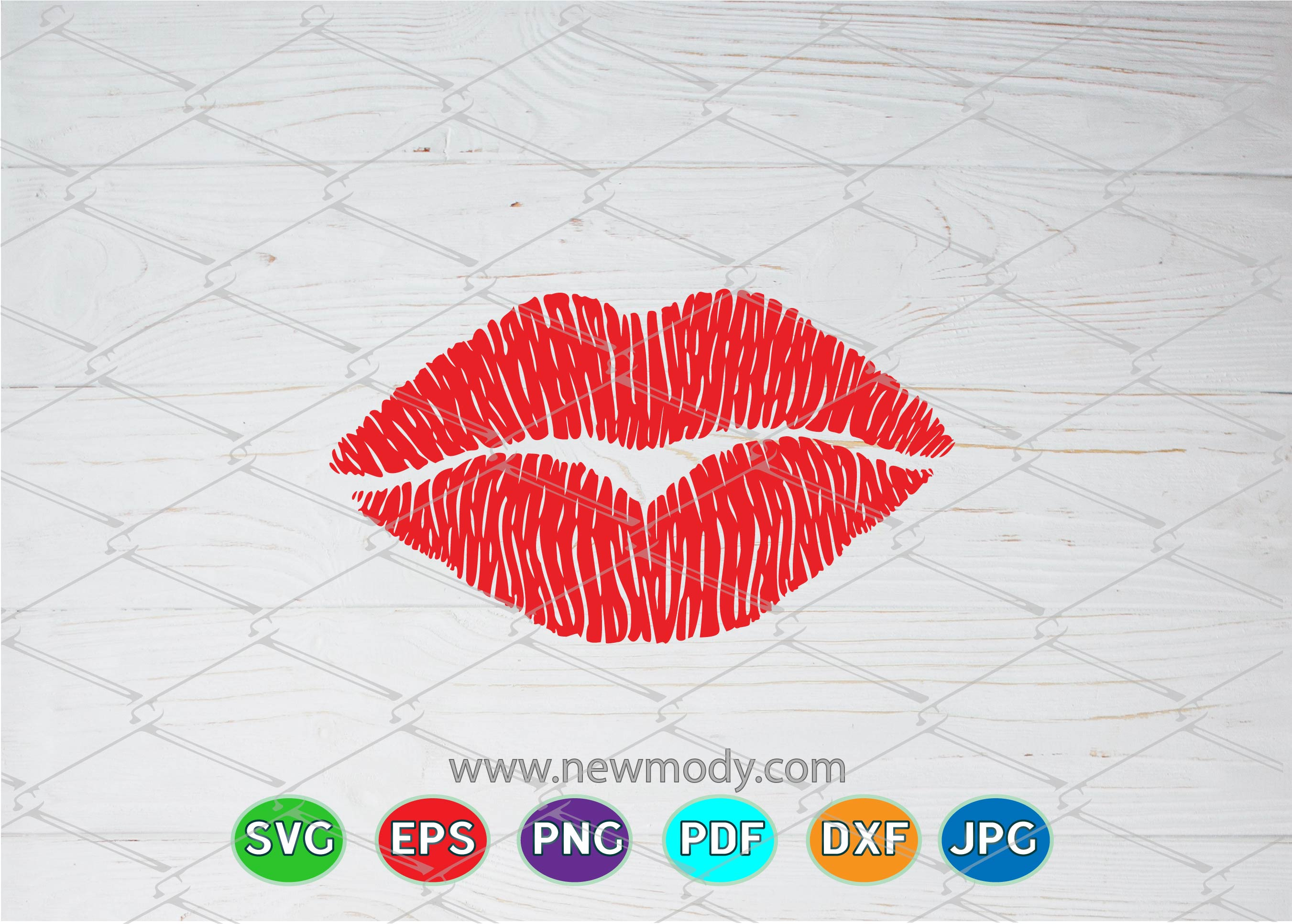 Download Free Distressed Lips Graphic By Amitta Creative Fabrica for Cricut Explore, Silhouette and other cutting machines.