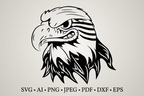 Eagle Head Face  Graphic Print Templates By Euphoria Design