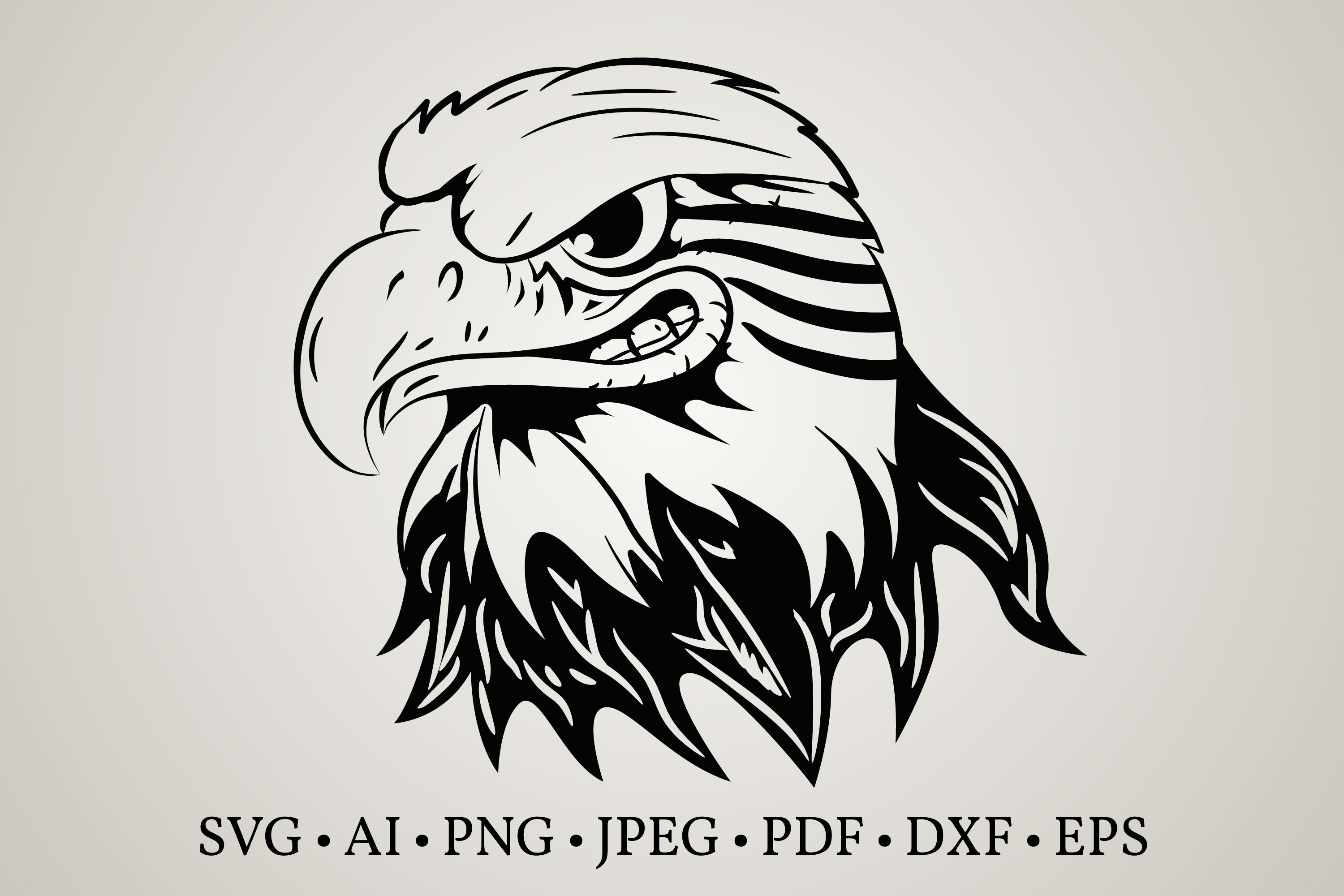 Download Free Eagle Head Face Graphic By Euphoria Design Creative Fabrica for Cricut Explore, Silhouette and other cutting machines.