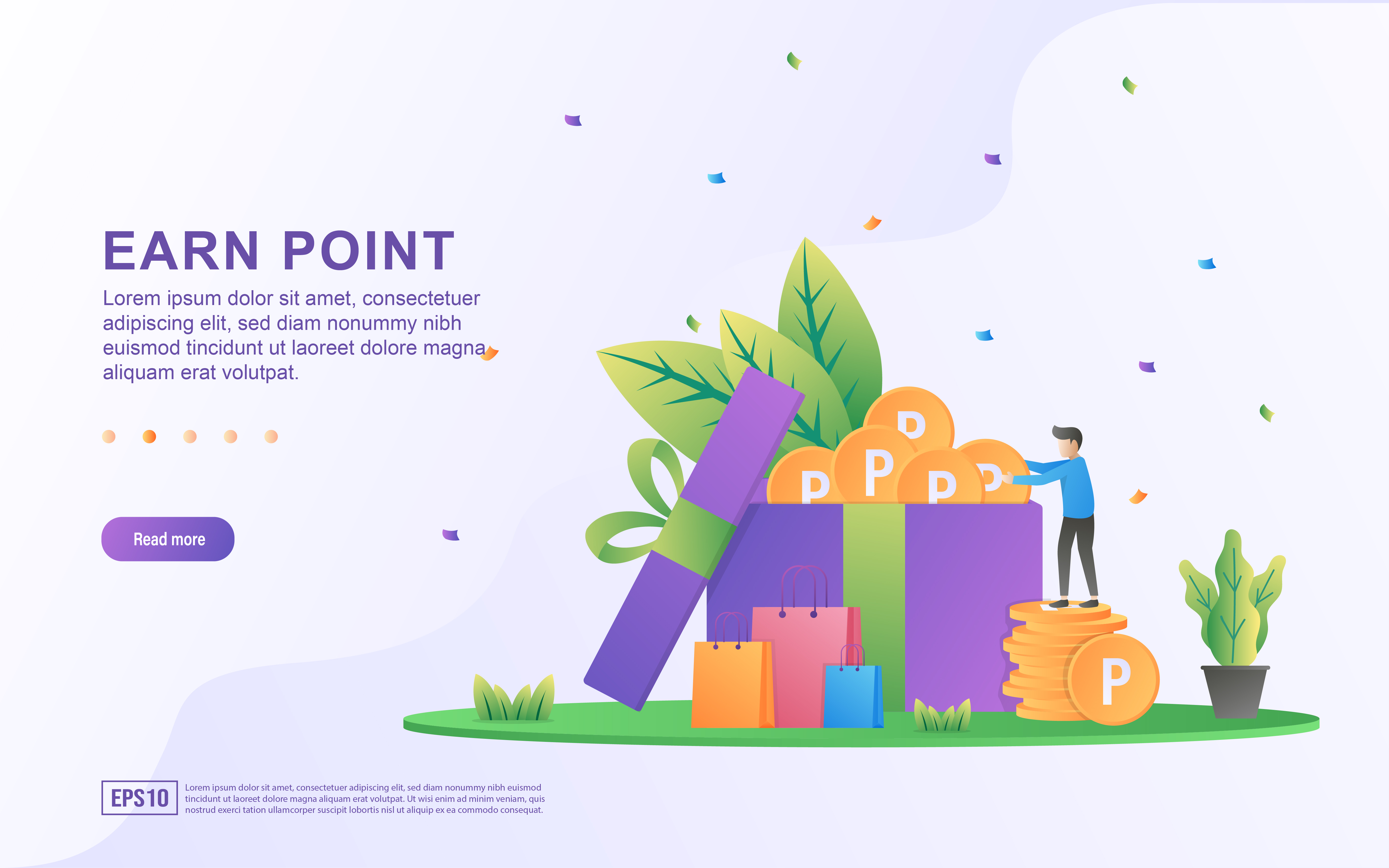 Download Free Earn Point Illustration Concept Graphic By Efosstudio Creative for Cricut Explore, Silhouette and other cutting machines.