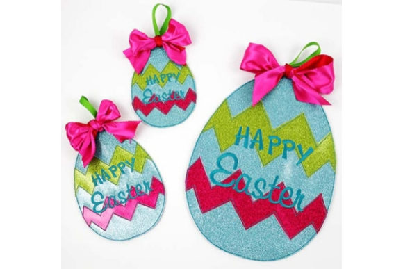 Easter Egg Door Hanger Easter Embroidery Design By Sue O'Very Designs