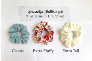 Easy Scrunchie Sewing Pattern Graphic Needle Arts By Sweet Mama Makes