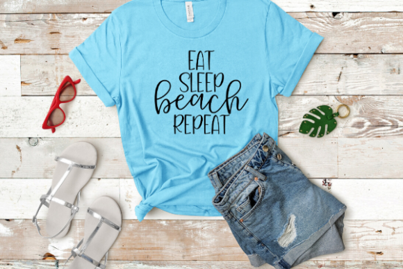 Download Free Eat Sleep Beach Repeat Graphic By Talia Smith Creative Fabrica for Cricut Explore, Silhouette and other cutting machines.