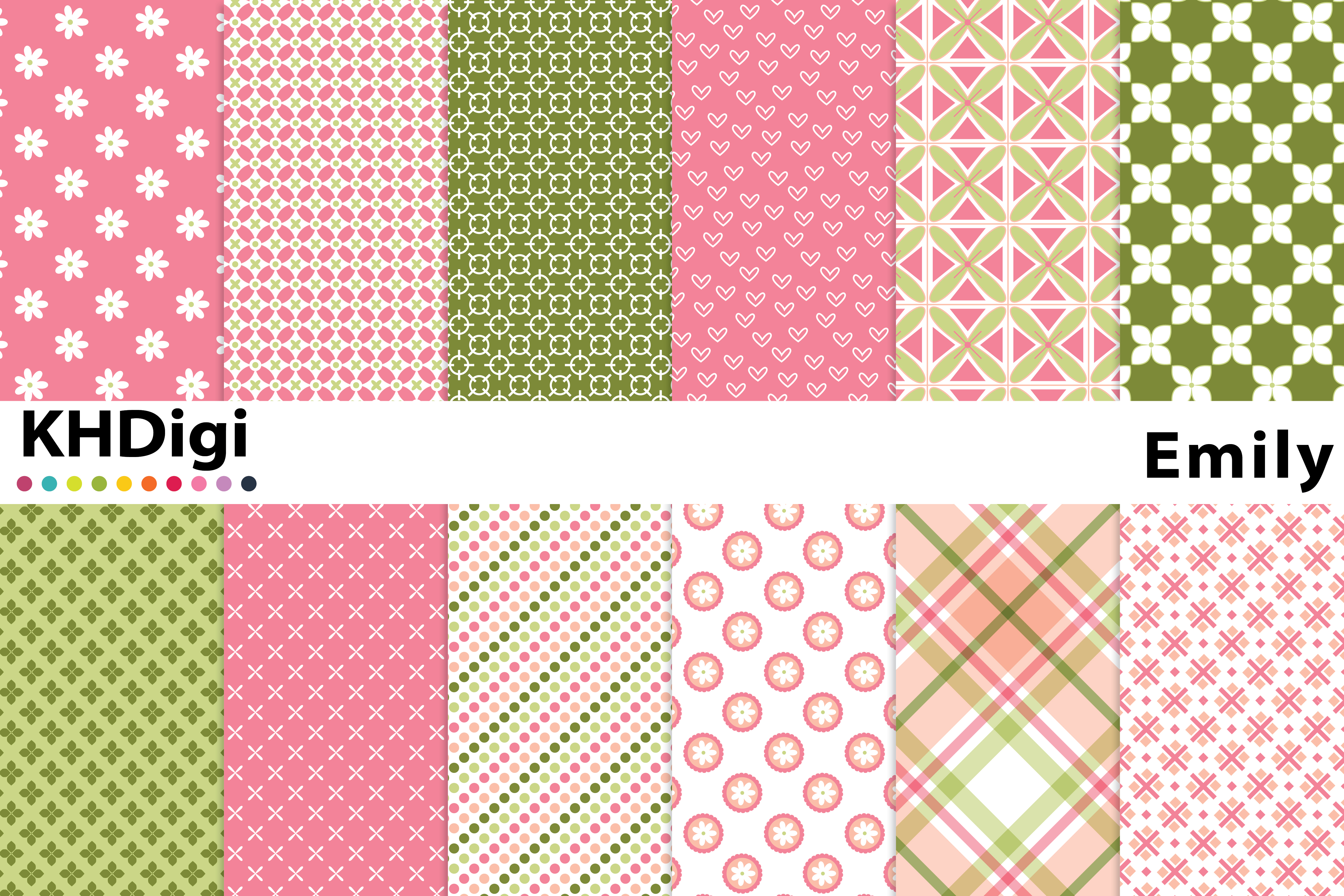 Download Free Emily Digital Paper Graphic By Khdigi Creative Fabrica for Cricut Explore, Silhouette and other cutting machines.