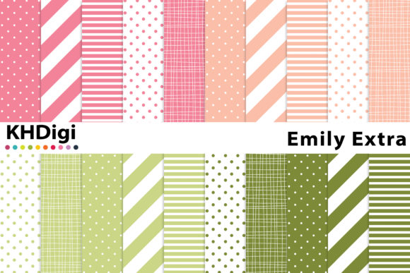 Download Free Emily Extra Digital Paper Graphic By Khdigi Creative Fabrica for Cricut Explore, Silhouette and other cutting machines.