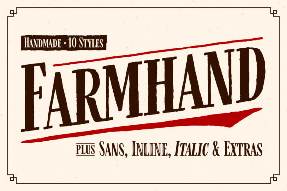 Print on Demand: Farmhand Display Font By Adam Ladd